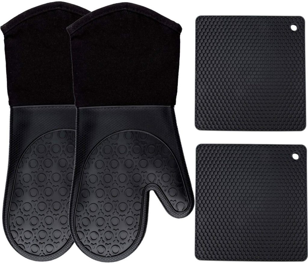 Homwe silicone oven mitts - photo 3