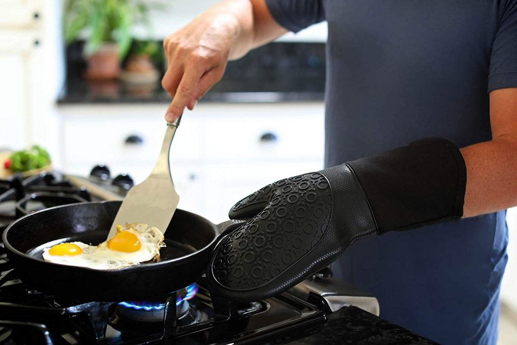 Homwe silicone oven mitts - photo 4