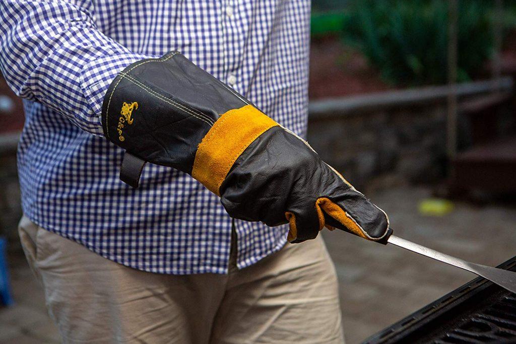 Long premium leather gloves - photo 2