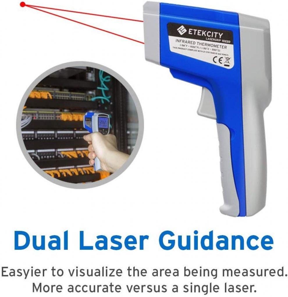 Etekcity 1022D dual laser digital thermometer - photo 3