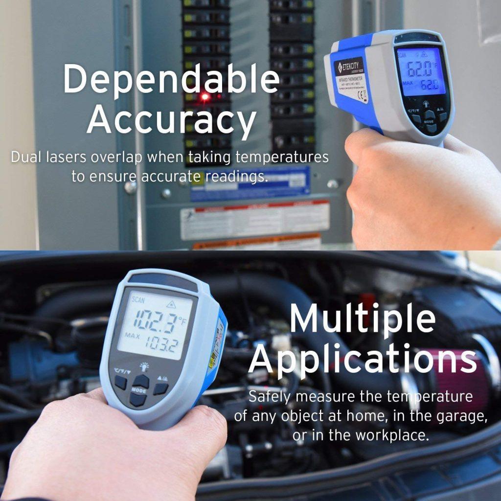 Etekcity 1022D dual laser digital thermometer - photo 1