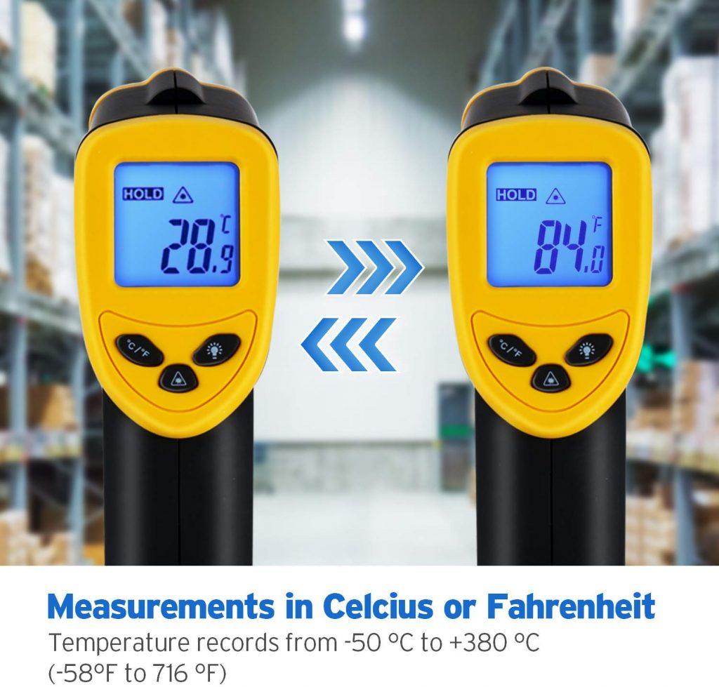 Etekcity lasergrip digital laser thermometer - photo 1