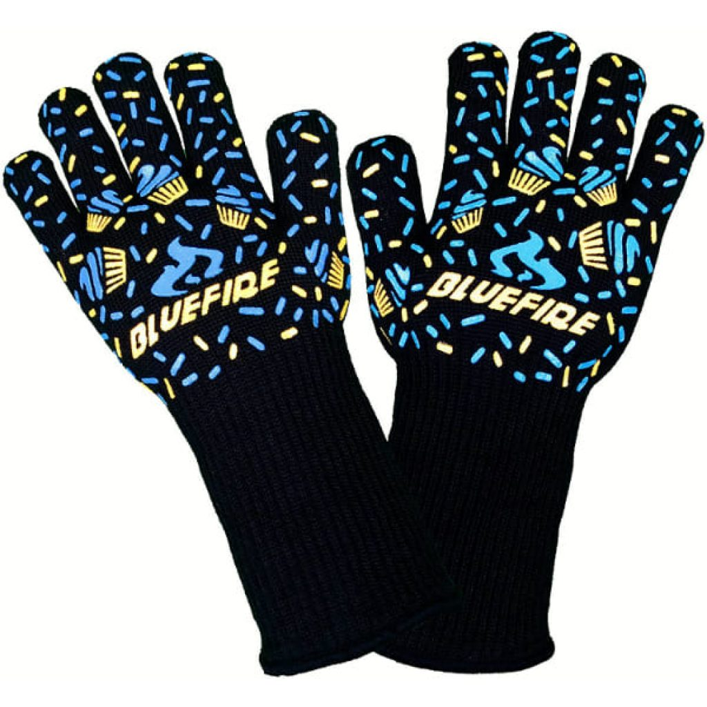BlueFire Gloves BBQ Grill Firepit Oven Mitts Heat Resistant