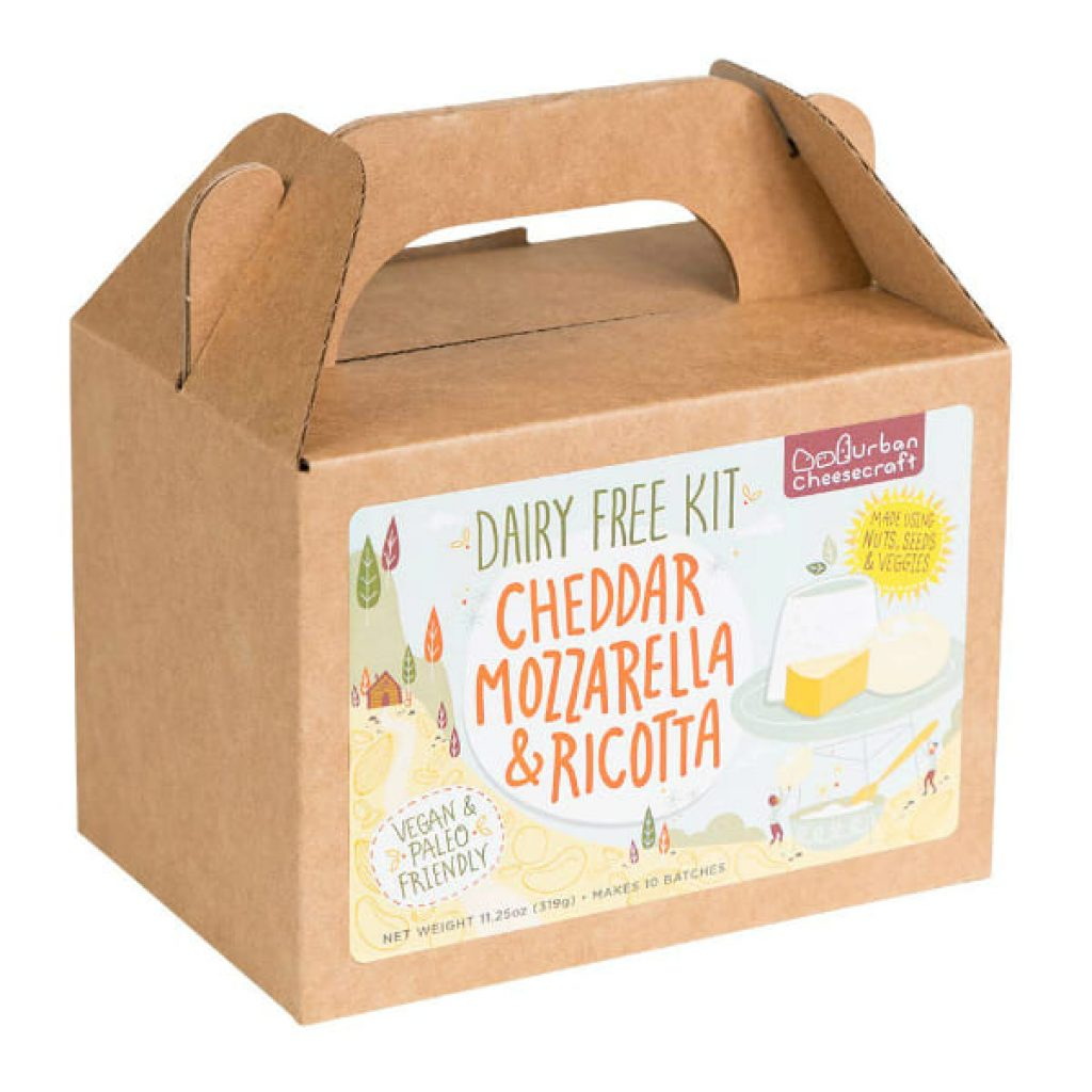Deluxe Dairy Free Cheese Making Kit – 10 Batches! DIY Vegan Cheddar, Mozzarella, Ricotta