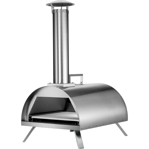 Hayes 12 Outdoor Pizza Oven Wood Charcoal Flavored Pellets Pizza Maker Stainless Steel Fish, Steaks, Chicken, Burgers, Vegetables