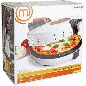 MasterChef Pizza Maker- Electric Rotating 12 Inch Non-stick Calzone Cooker