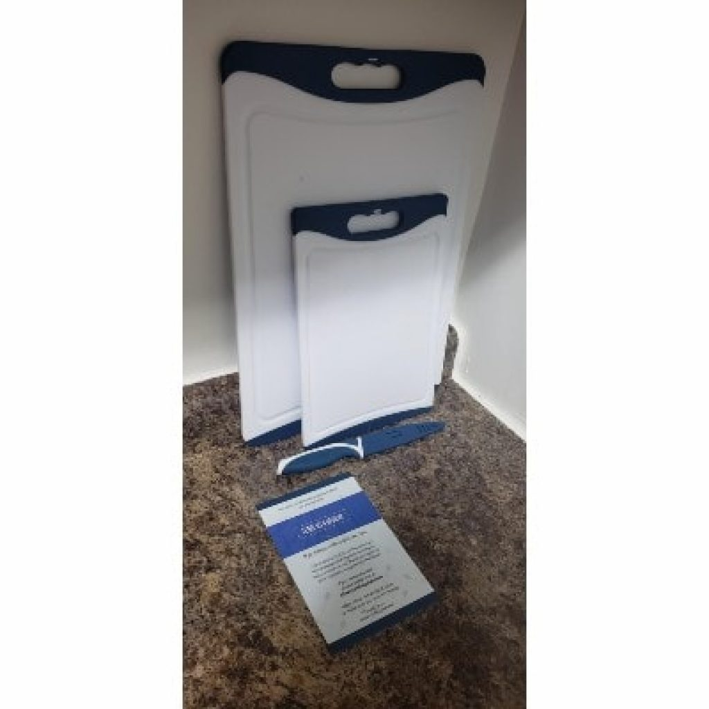 CHEF GRIDS Durable Plastic XL Cutting Board