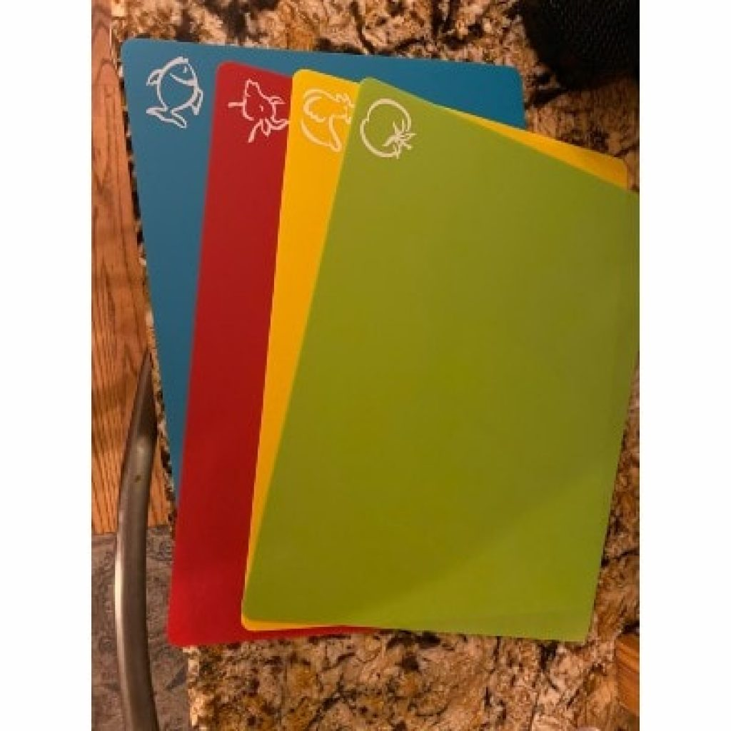 Extra Thick Flexible Plastic Cutting Board Mats, view from above