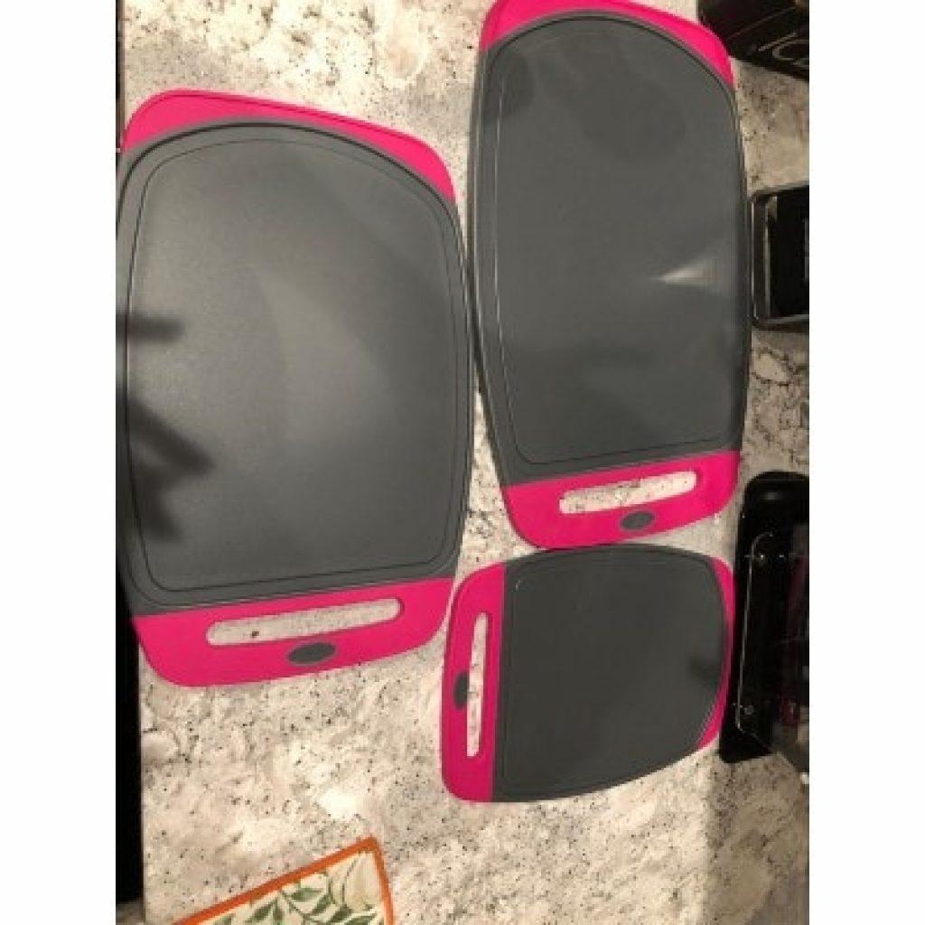 GORILLA GRIP Original Oversized Cutting Board, pink