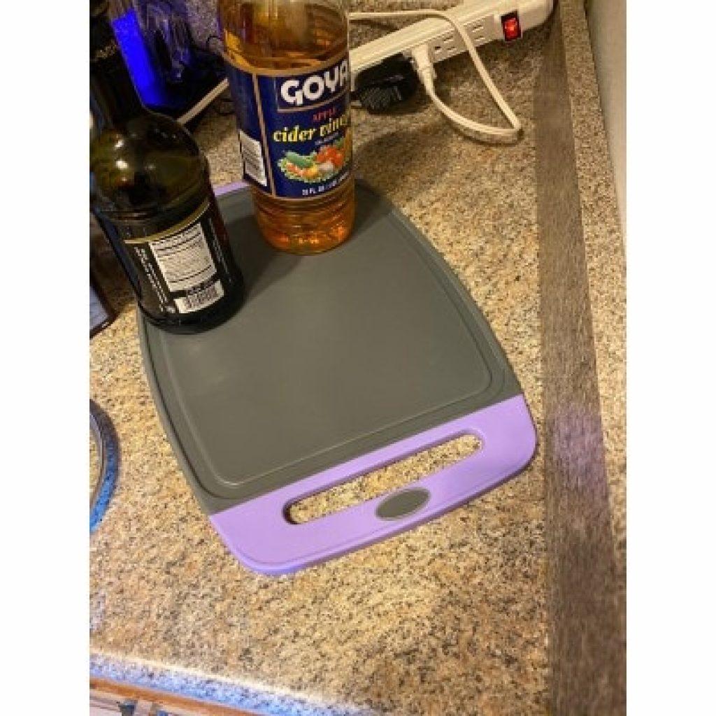 GORILLA GRIP Original Oversized Cutting Board, purple