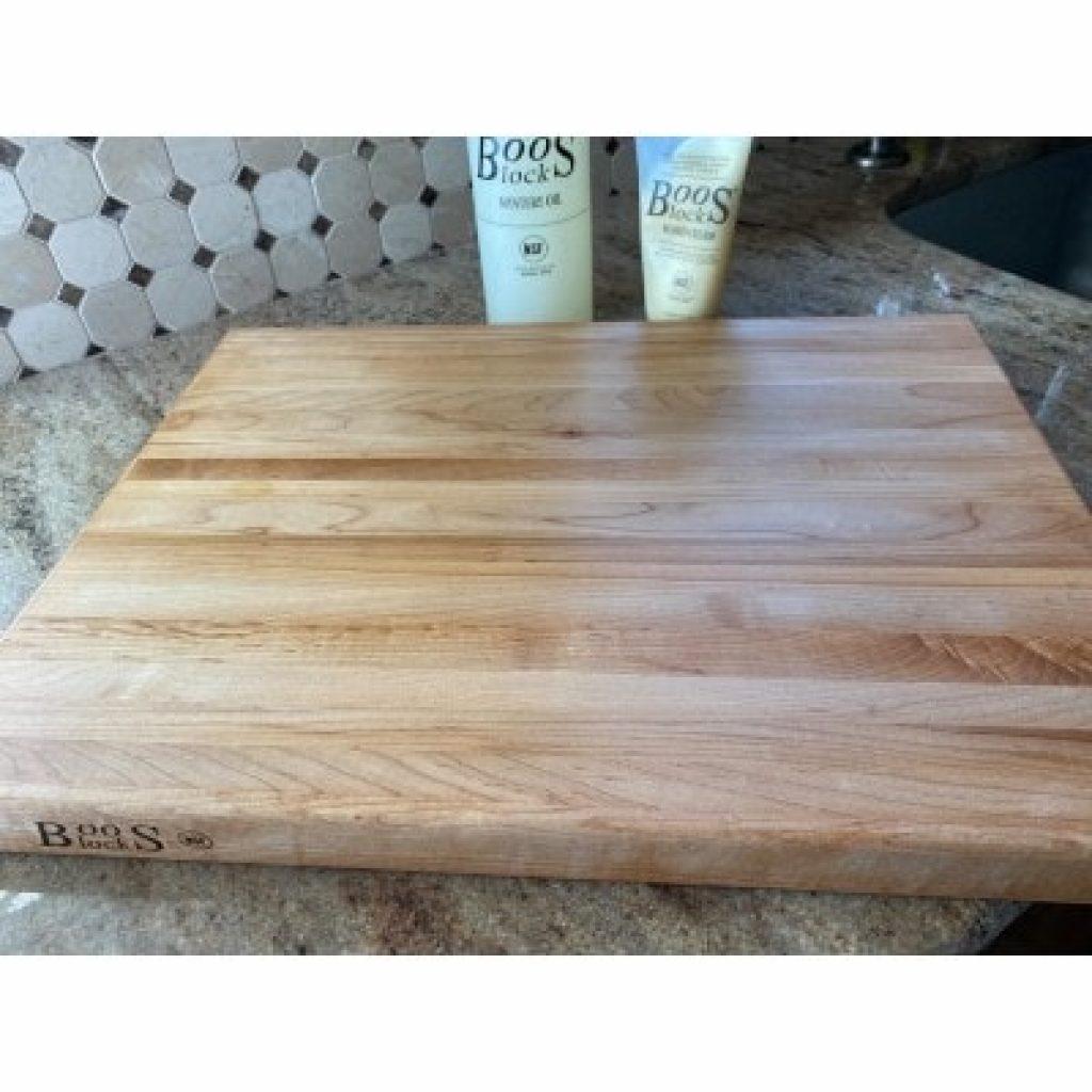 John Boos Block BBQBD Reversible Maple Wood Edge Grain BBQ Cutting Board