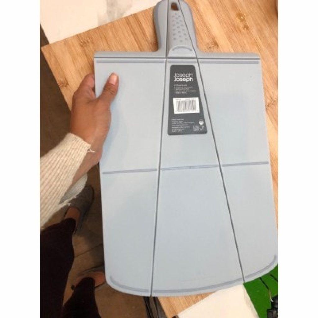 Joseph Joseph 60040 Chop2Pot Foldable Plastic Cutting Board, gray