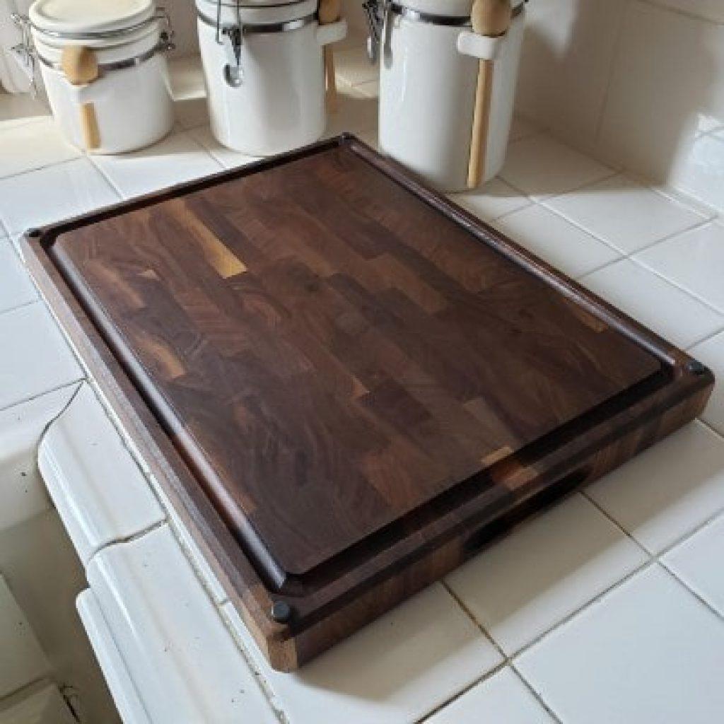 Sonder Los Angeles Large End Walnut Wood Cutting Board