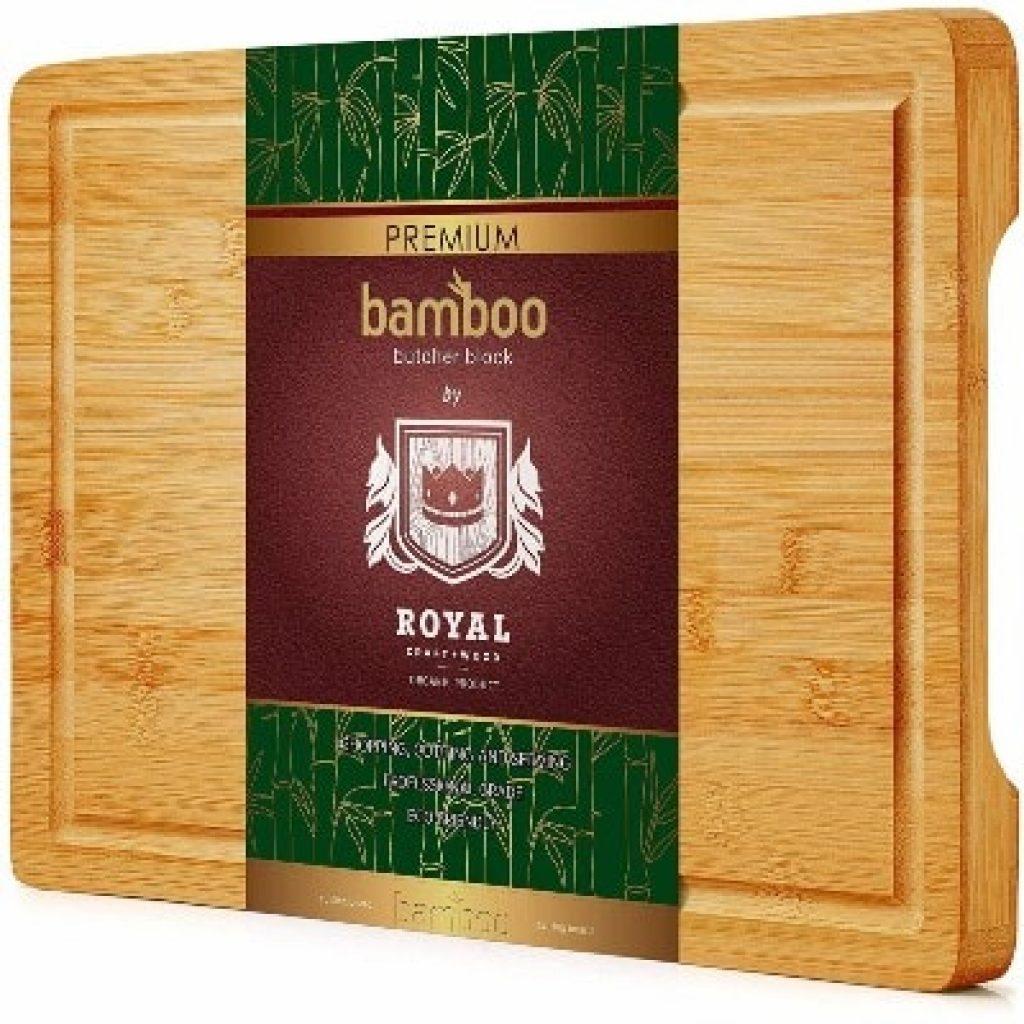 Organic Bamboo Cutting Board with Juice Groove