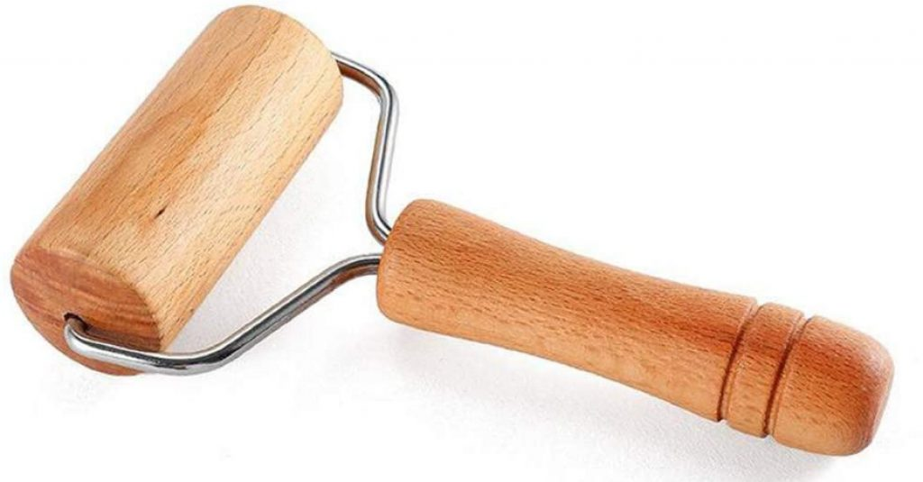 1 Piece 9.5cm Wood Pastry Pizza Roller