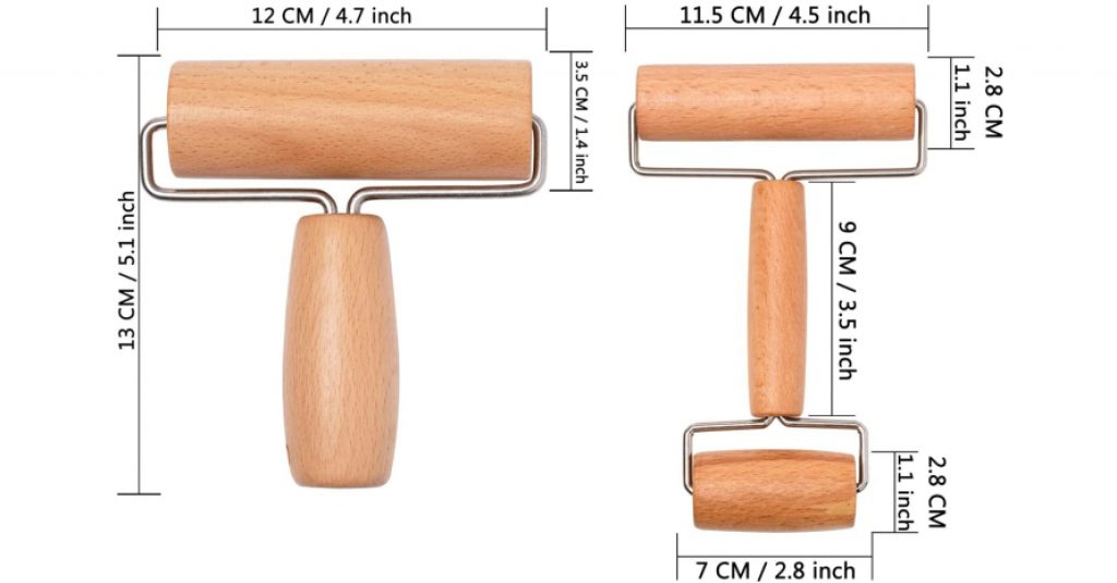 Whaline Wood Pastry Pizza Roller Sizes